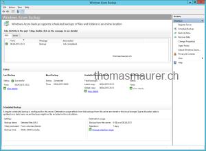 Windows Azure Backup Console