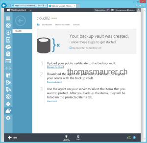 Windows Azure Online Backup Vault Management