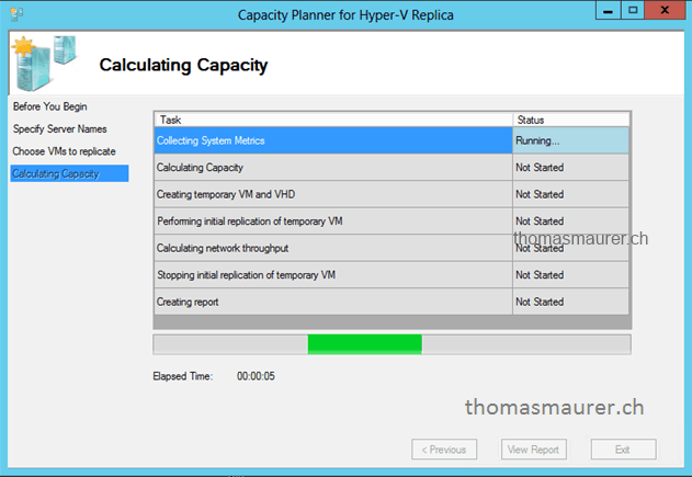 Capacity Planner for Hyper-V Replica