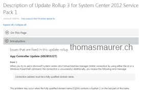 Virtual Machine Manager Update Rollup 3