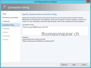 Hyper-V Network Virtualization Gateway connection string