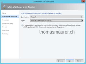 Microsoft Windows Server Gateway