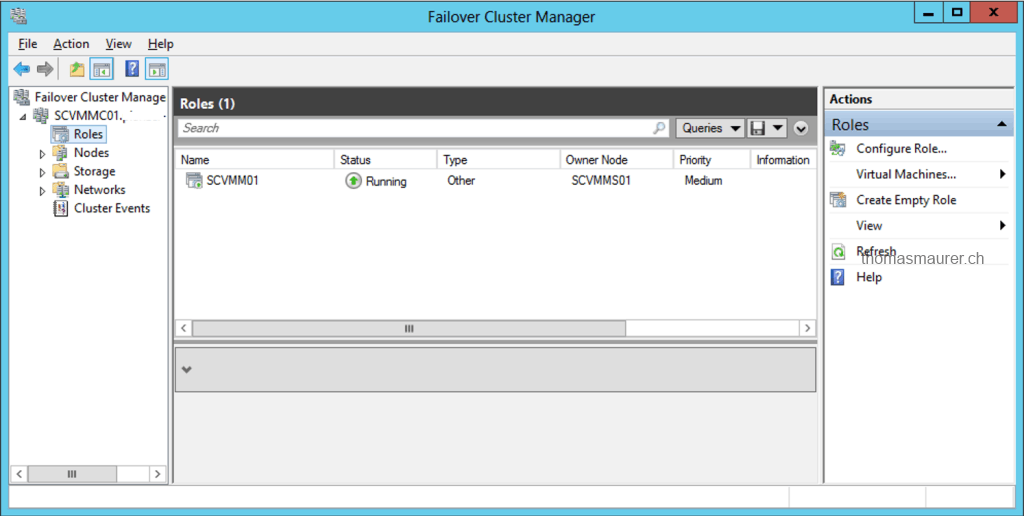 VMM Failover Cluster Role