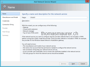 Virtual Machine Manager add Network Service