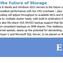 SMB 3 the future of Storage