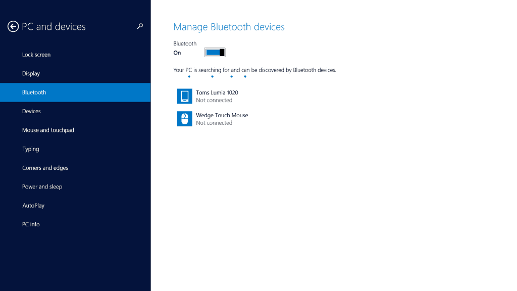 Windows Phone 8 and Surface Bluetooth pairing