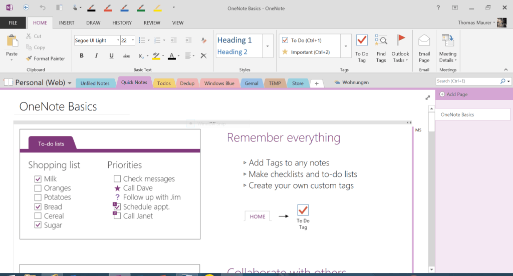 OneNote Overview