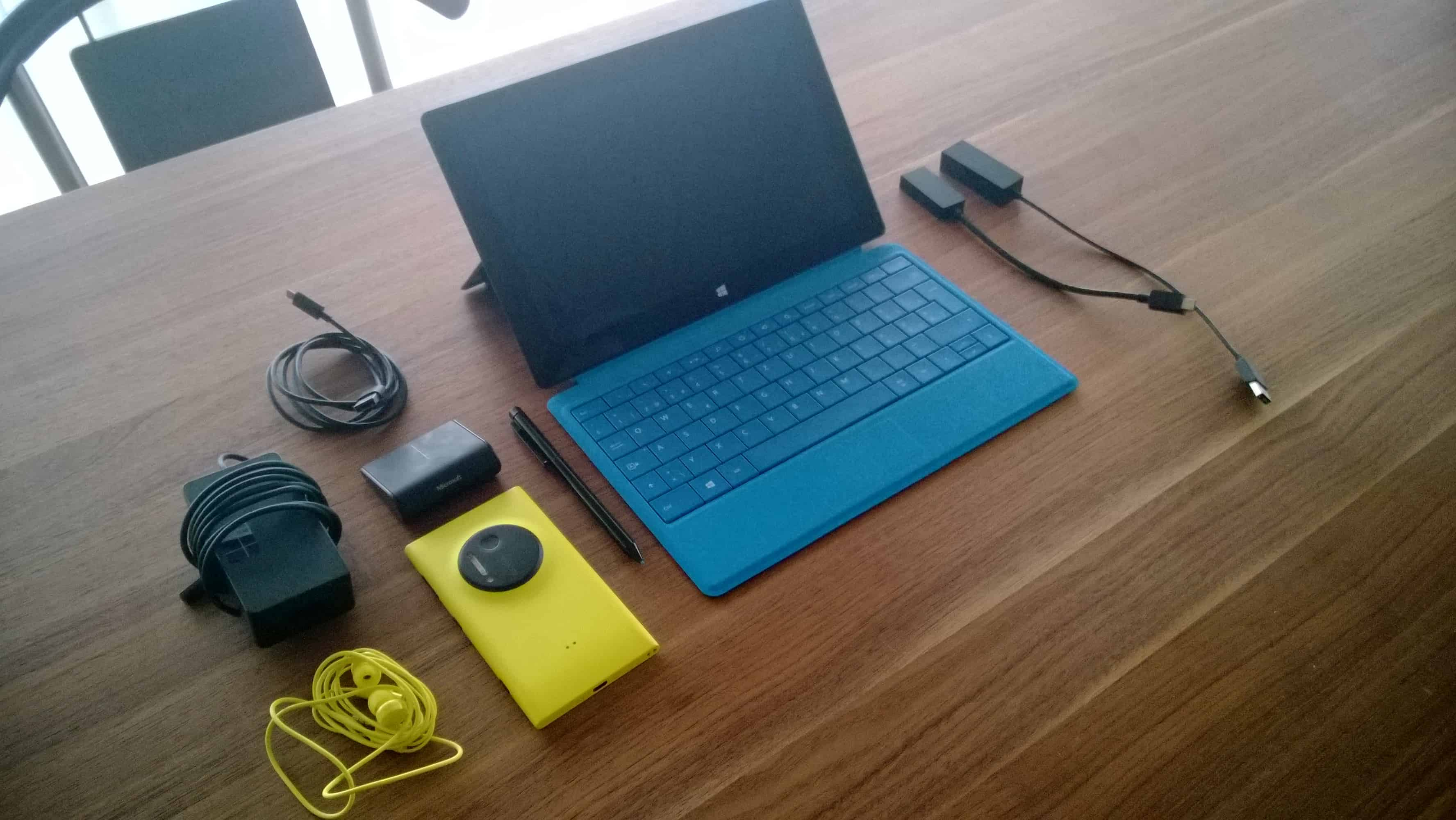 Surface Pro and Nokia Lumia 1020