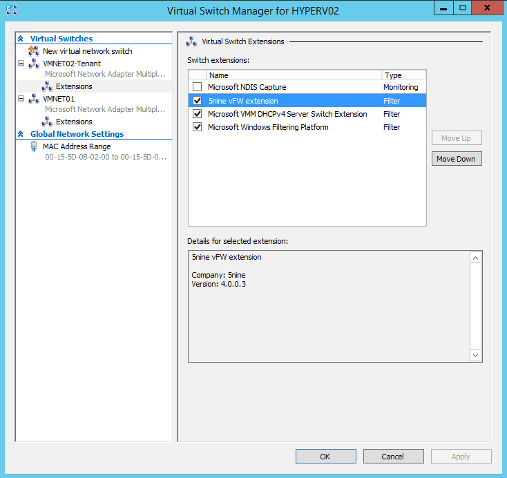 5Nine Hyper-V Virtual Switch Extension