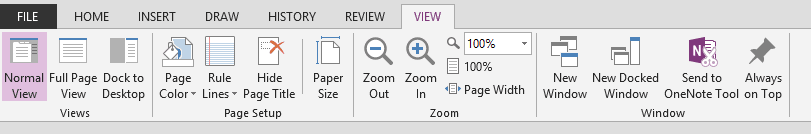 OneNote Dock to Desktop Title