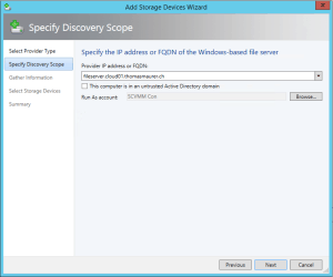 Enter Fileserver FQDN