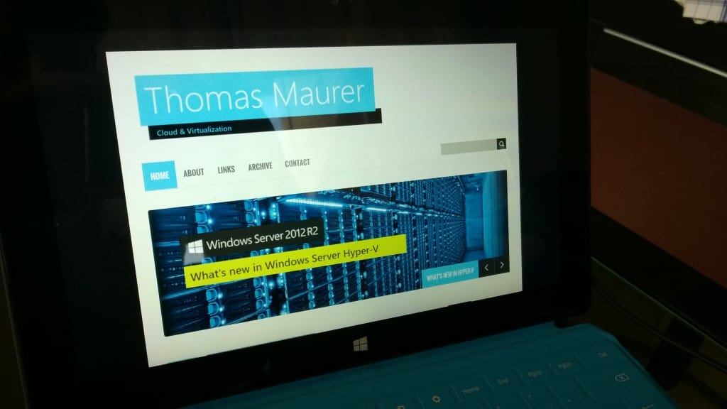 thomasmaurer.ch Website