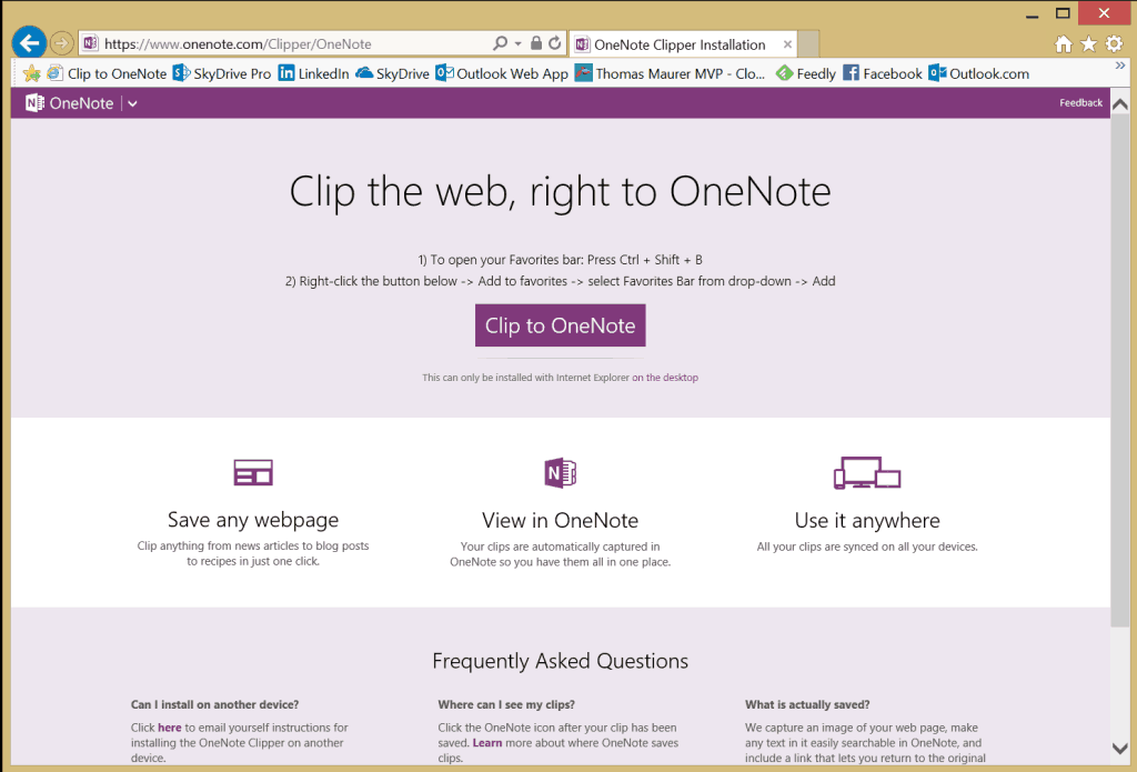 OneNote Webclipper