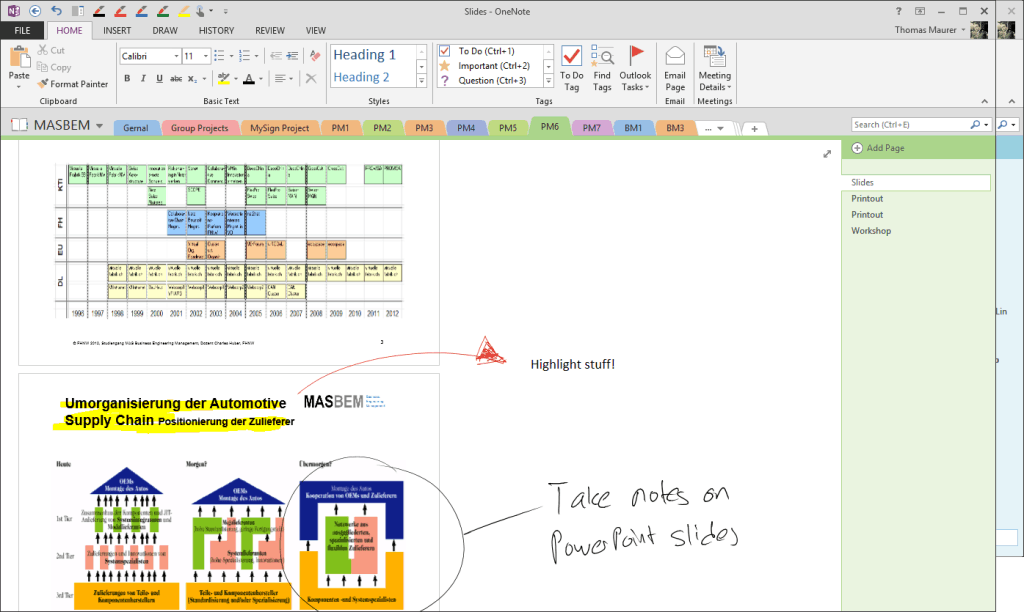 OneNote PowerPoint Slides