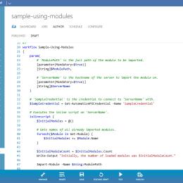 SMA Author RunBooks in Windows Azure Pack