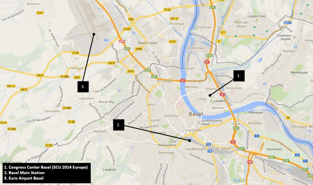 SCU Location Map Basel