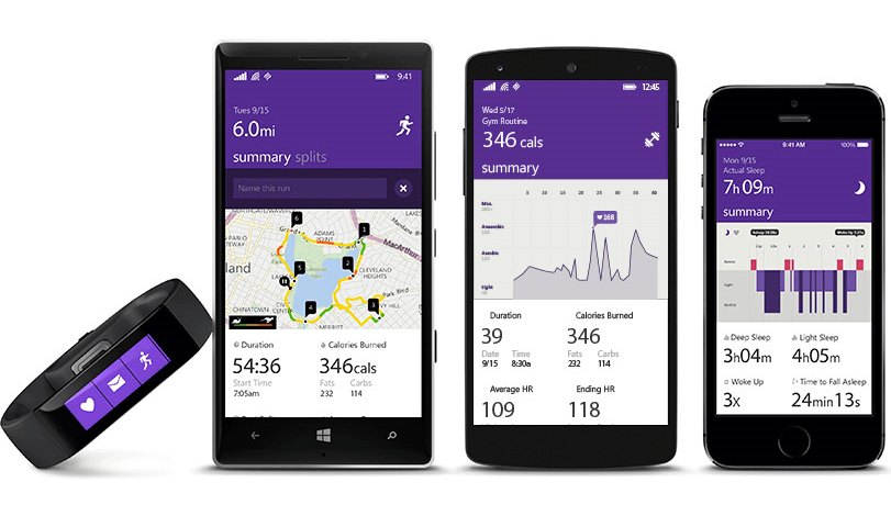 Microsoft Band iPhone and Android