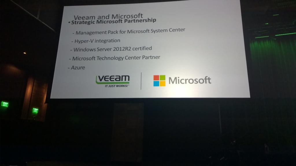 VeeamON 2014 Las Vegas Microsoft