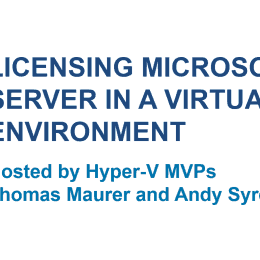 Licensing Microsoft Server in a Virtual Environment