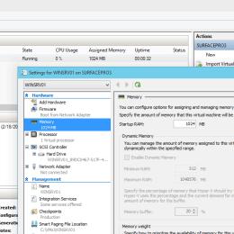 Hyper-V vNext Runtime Memory Resize