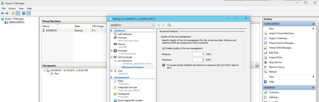Hyper-V vNext Storage QoS