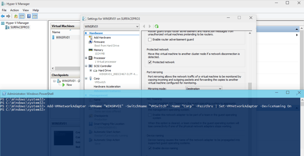 Hyper-V vNext Virtual Network Adapter Identification