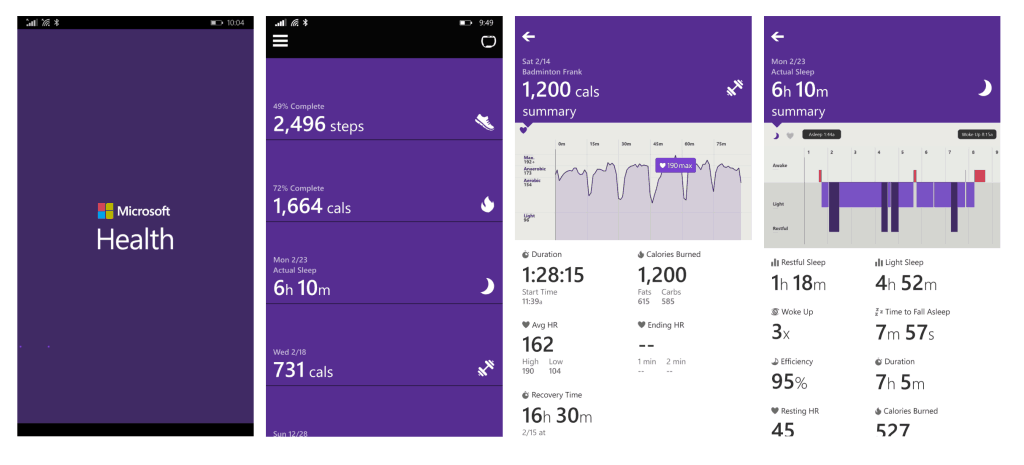 Microsoft Band Windows Phone App
