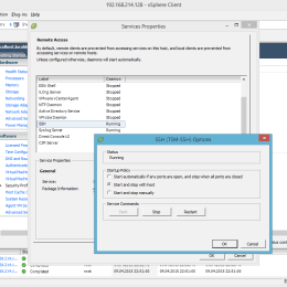 VMware ESXi 6.0 Enable SSH Service