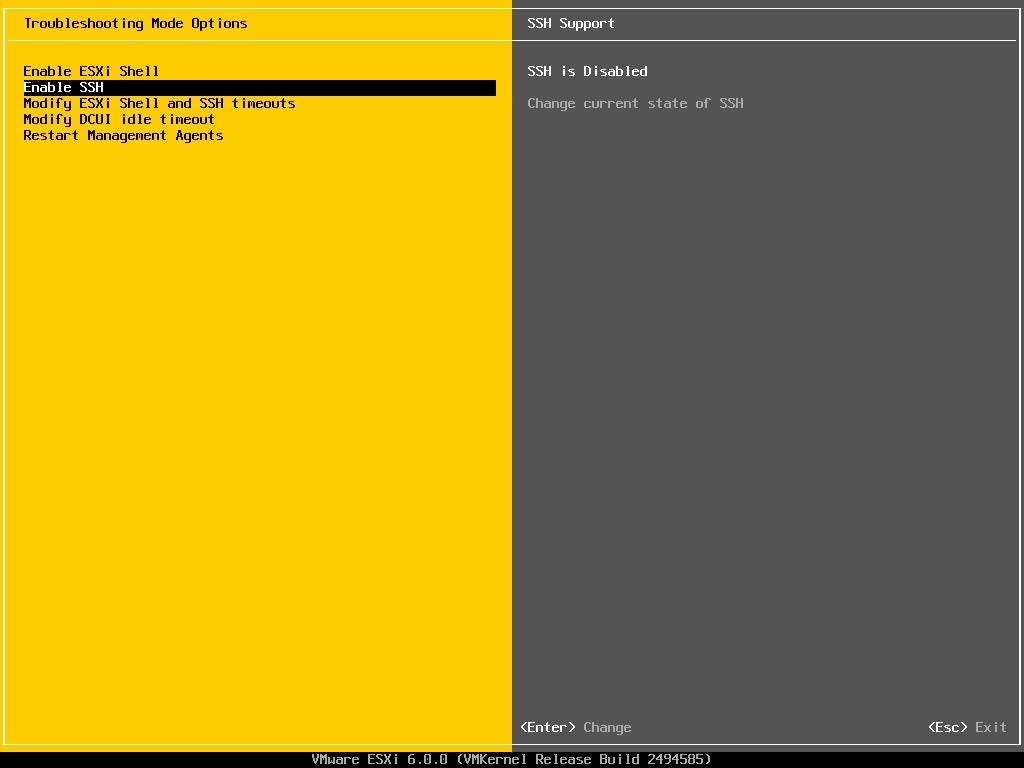 Enable SSH on VMware ESXi 6 0 - Thomas Maurer