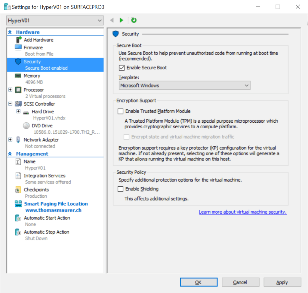 Hyper-V Shilded Virtual Machines