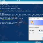 Windows 10 IoT PowerShell Cred