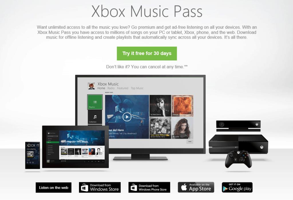 Xbox Music Pass