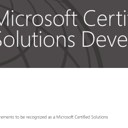 MCSD Azure Solution Architect