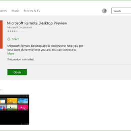 Microsoft Remote Desktop Preview App