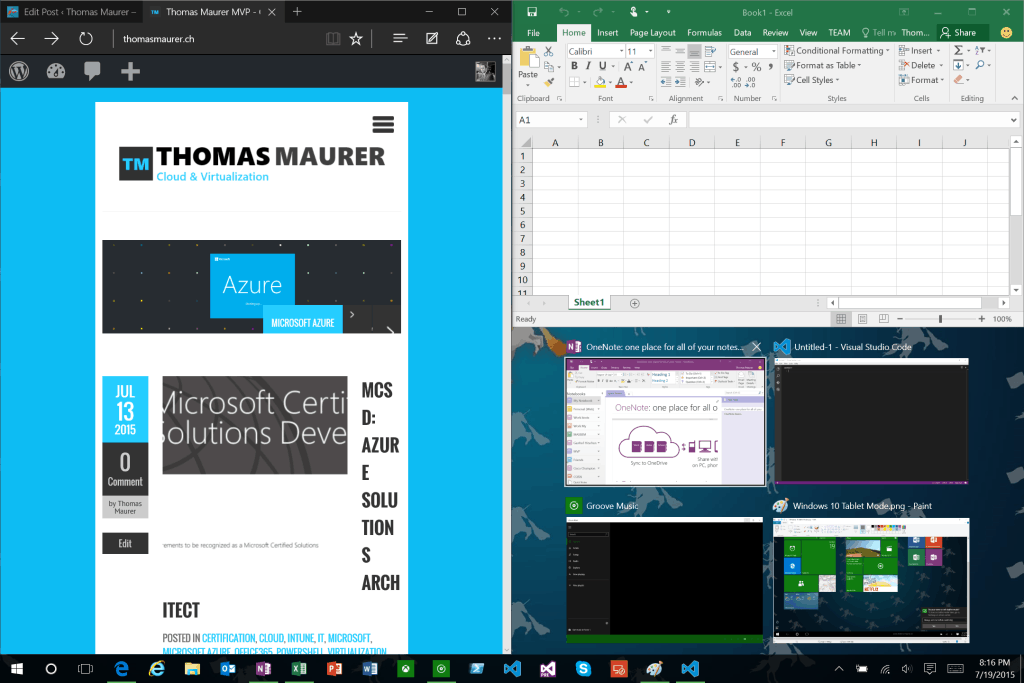 Windows 10 Snap View