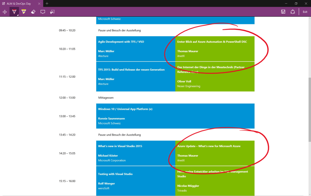 ALM and Devops Day 2015 Agenda