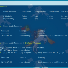 PowerShell PackageManagement Add PackageSource