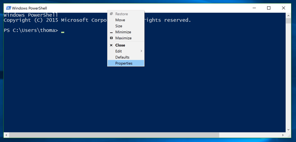 PowerShell Options