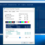Transparent PowerShell Background in Windows 10