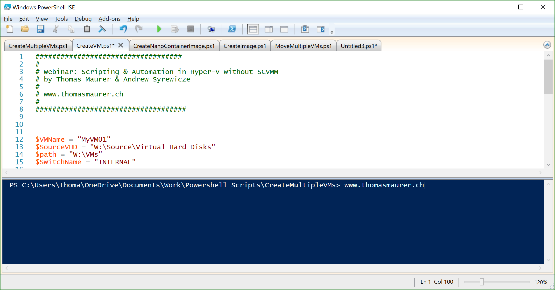 Webinar PowerShell Scripting and Automation for Hyper-V