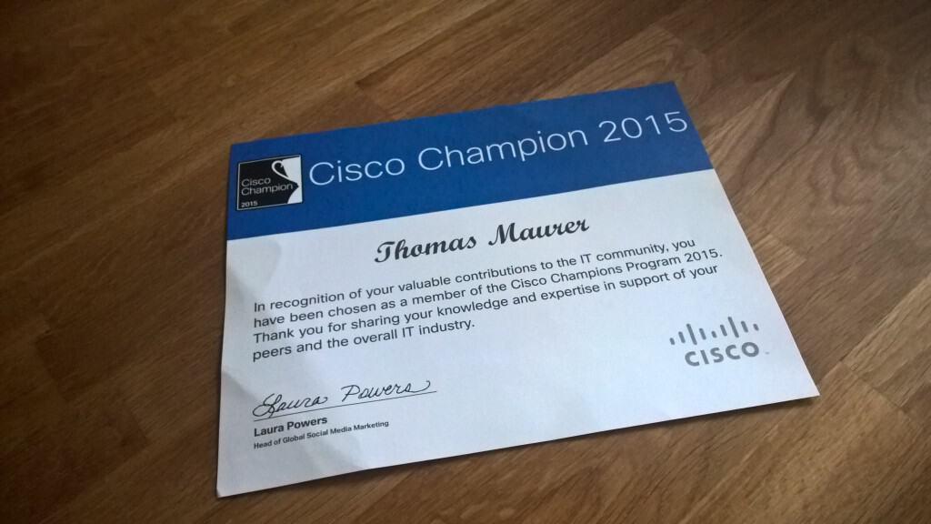 Cisco Champion 2015