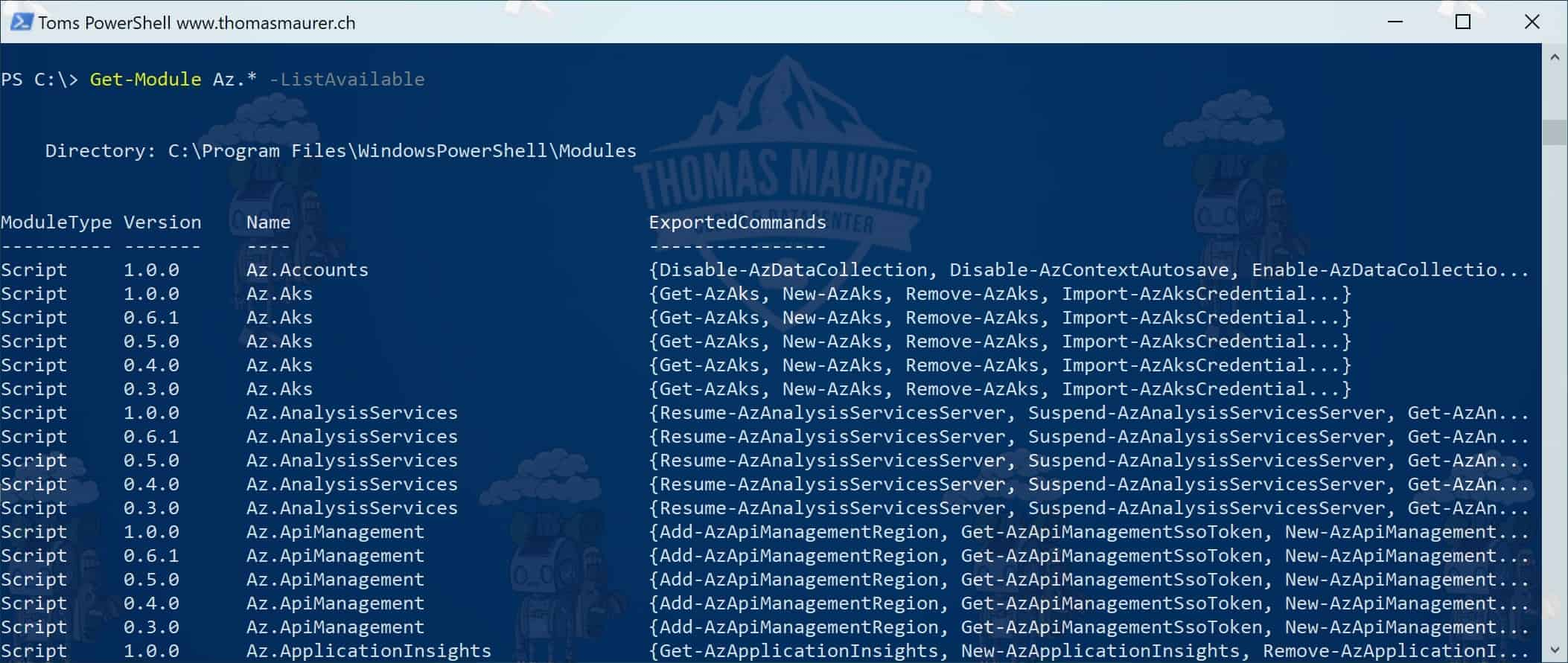 How to Install the Azure PowerShell Module - Thomas Maurer