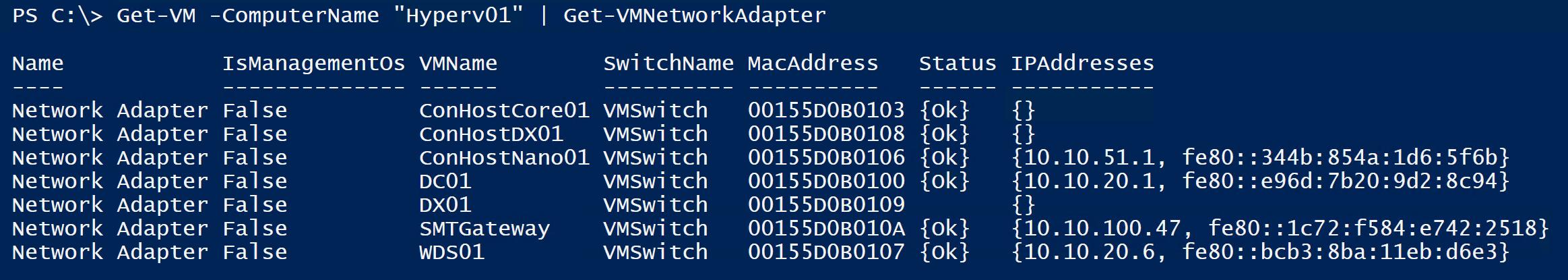 VM Network Adapter
