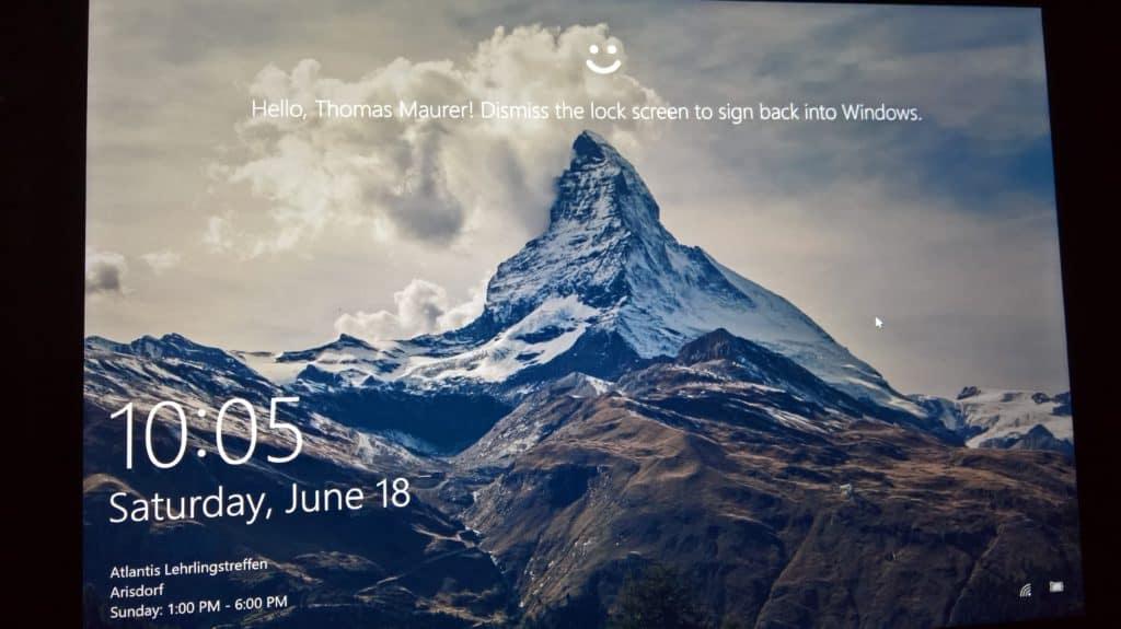 Surface Book Windows Hello
