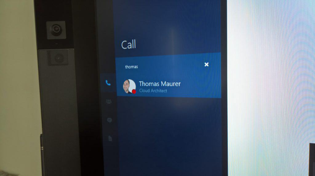 Surface Hub Call Skype User
