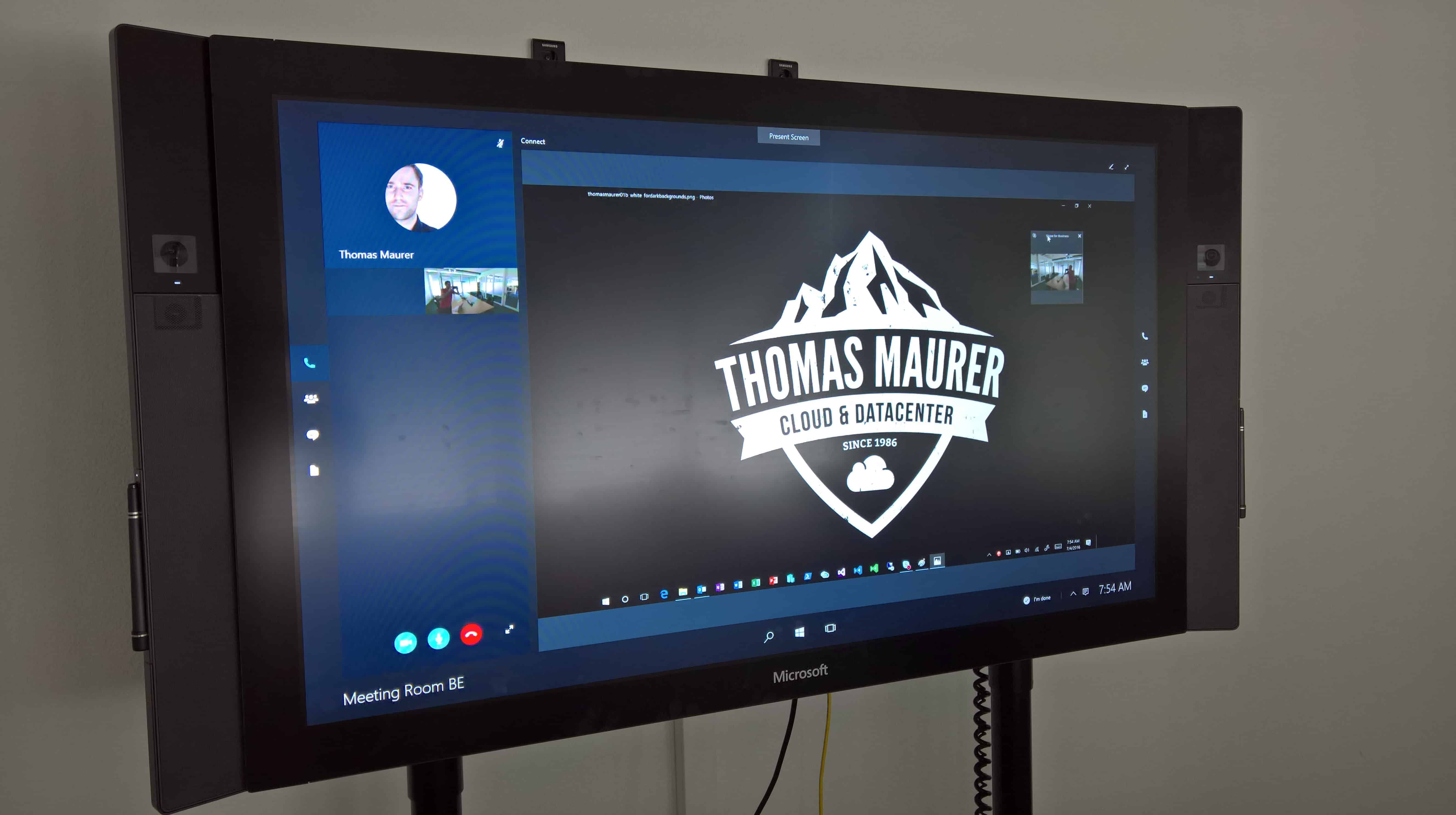 Surface Hub Skype Meeting