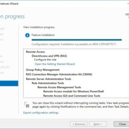 Installation Windows Server 2016 VPN