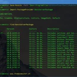 Nano Server PowerShell Package Management