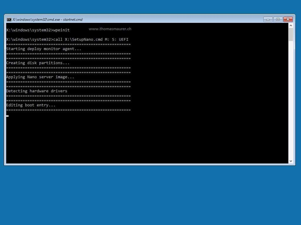 Nano Server WinPe