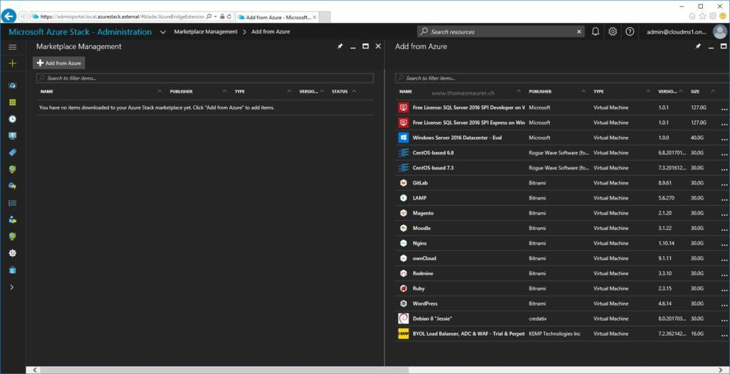 Azure Stack Marketplace Syndication